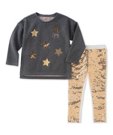 b6082b304 Charcoal Stars Tee   Leggings - Infant