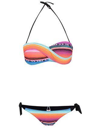 Rip Curl - Modro-růžové dvoudílné vzorované plavky  Lolita - 1