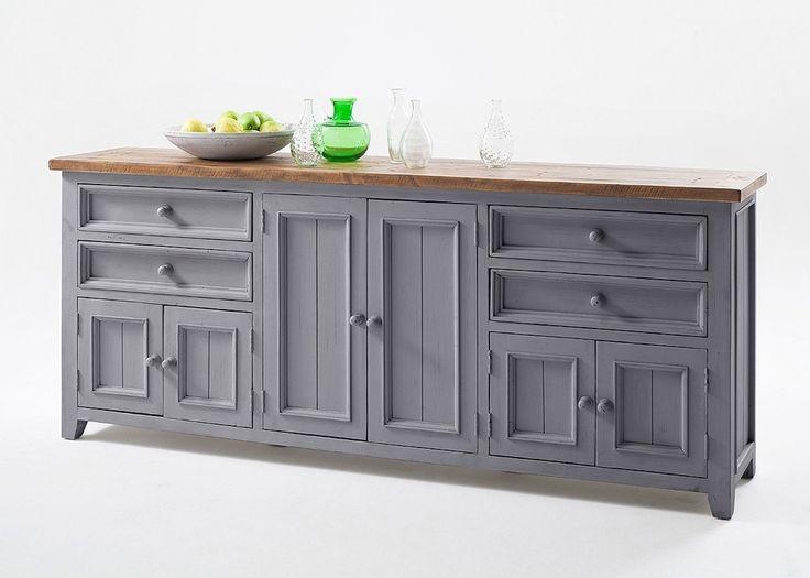 sideboard landhausstil byron massivholz grau 20576 buy now at httpswww - Landhausstil Mobel Wohnzimmer