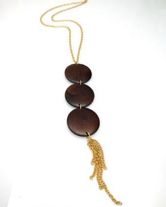 prettyRebel Tassels, Wood Tassels, Tassels Ideas, Tassels Necklaces, Tassel Necklace