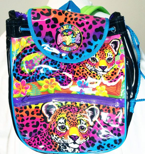Festival Backpack - Lisa Frank Backpack  Hunter Lisa Frank   90's  at Foxcultvintage