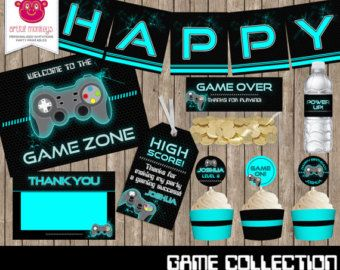 Printable Video Game Party Collection by ArtfulMonkeys on Etsy