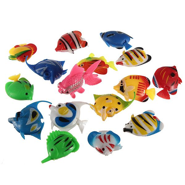 I am going to make these into a mobile and hang it over a bathtub. Fake Fish Fish Tank Decoration Plastic Artificial Tropical Fish