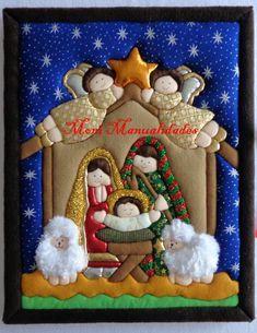 Curso navideño de hermoso Cuadro de la Sagrada Familia en Patchwork con Luces Led.