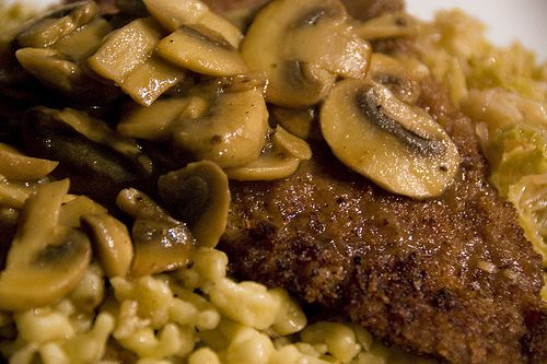 Jaegerschnitzel (East and West Variants)