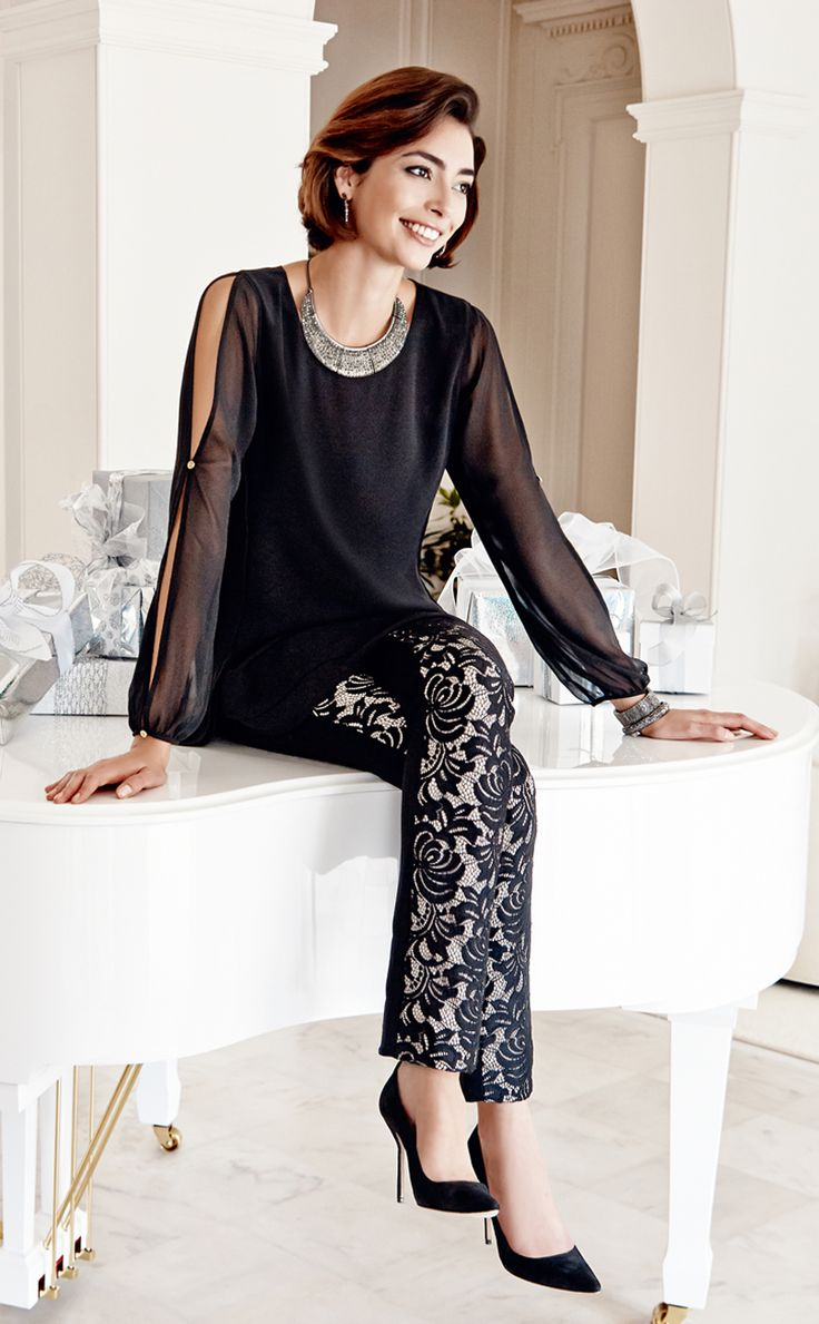 The Hero Top: Floaty chiffon and a hint of shoulder. Pair with textured trousers.