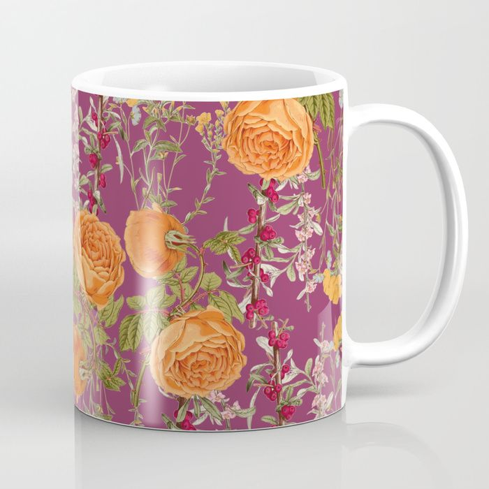 Buy Vibrant Botanic Coffee Mug by zala02creations. Worldwide shipping available at Society6.com. Just one of millions of high quality products available.