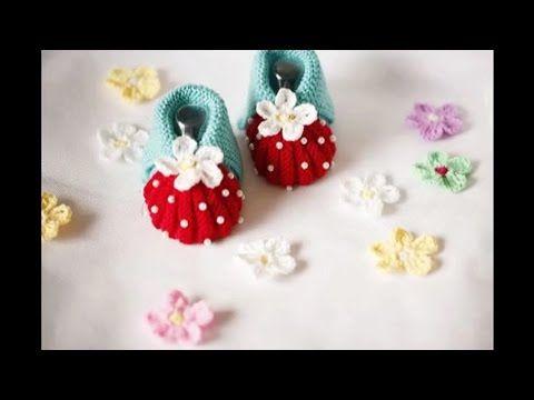crochet booties - YouTube