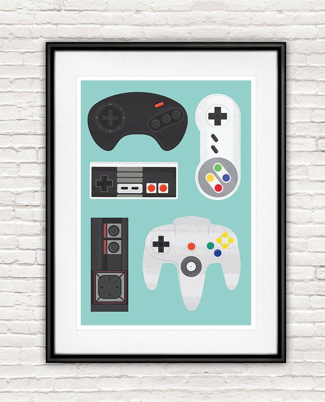 Retro Video Game Poster, SNES print, Nintendo poster in 2019