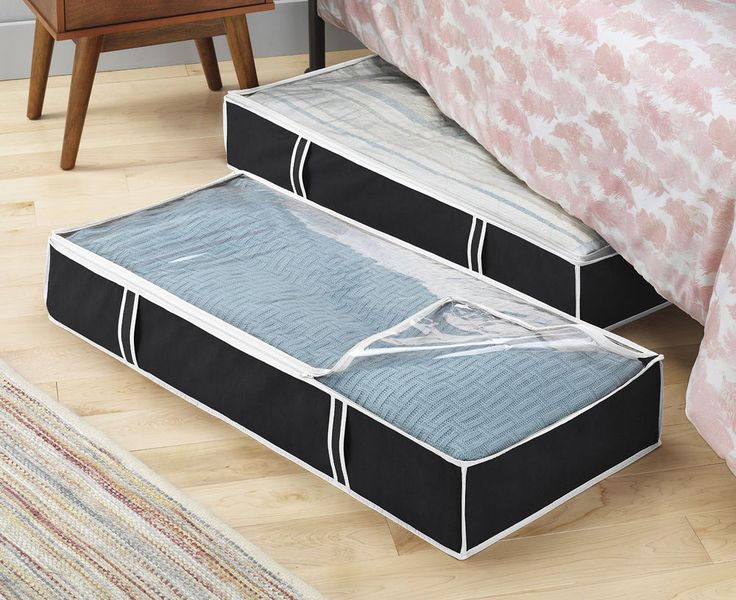 1000 ideas about under bed storage on pinterest under bed under bed storage boxes and storage. Black Bedroom Furniture Sets. Home Design Ideas
