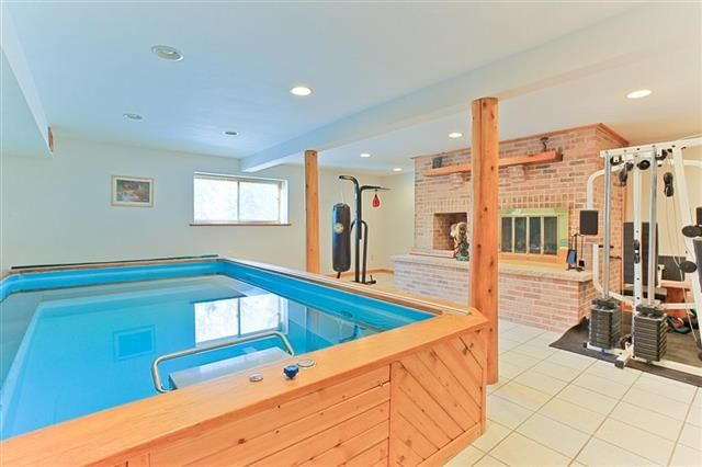 151 best hot tub images on pinterest pool ideas for Endless pool in basement