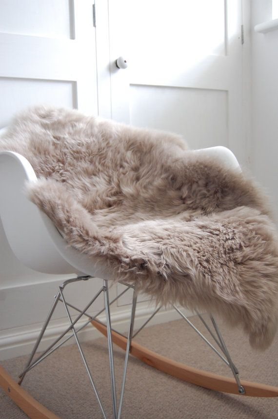 Beautiful soft grey sheepskin rug by Swedishdalahorse on Etsy