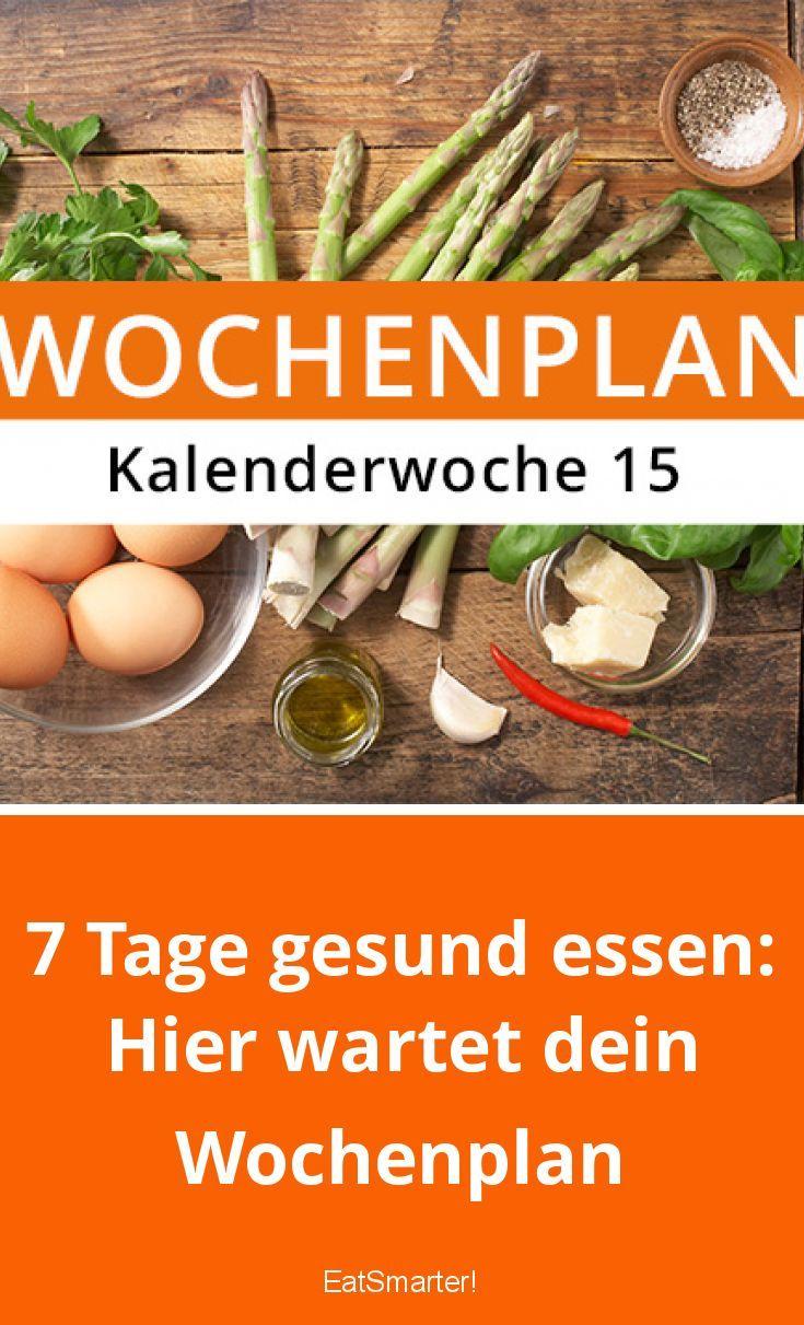 7 Tage, um gesund zu essen: Hier ist Ihr Wochenplan eatsmarter.de #wochenplan #er …   – Rezept-Wochenplan