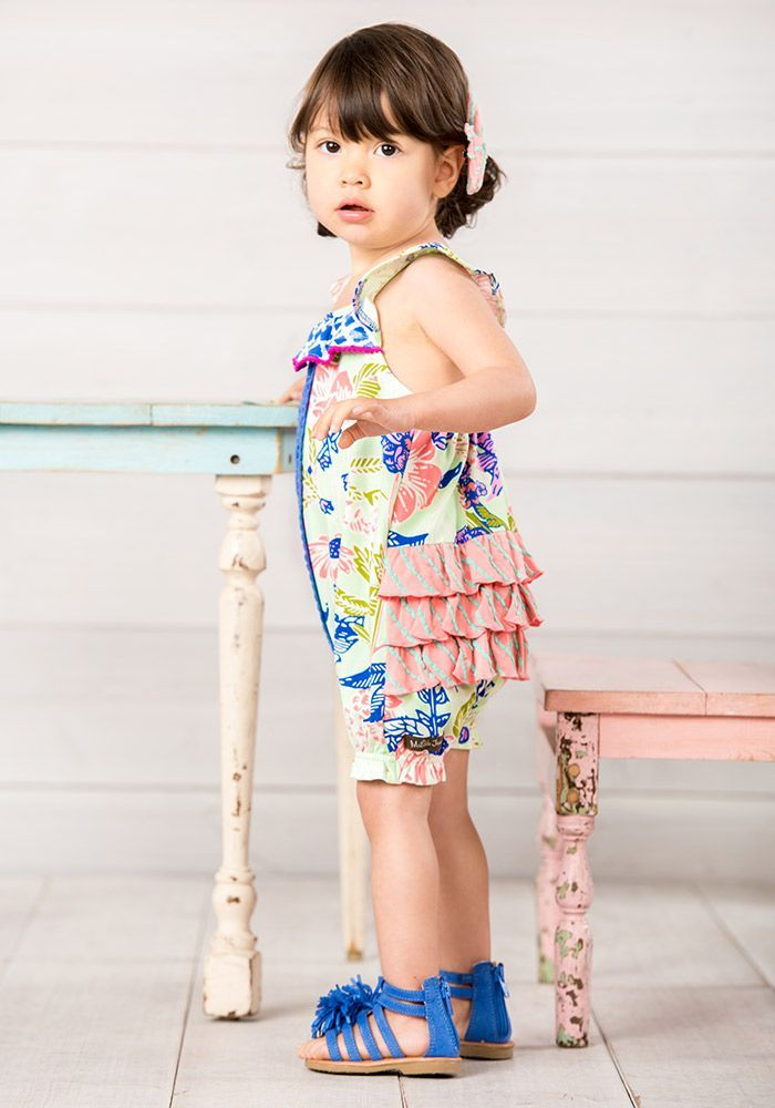 9ecd9cc8cce Parachute Romper - Matilda Jane Clothing - Your little one will float  through her day in the Parachute Romper. Lace crochet details stand out  against a ...