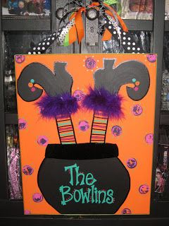 Personal Pizazz By Lindsey Halloween Canvas PaintingsHalloween PaintingDiy