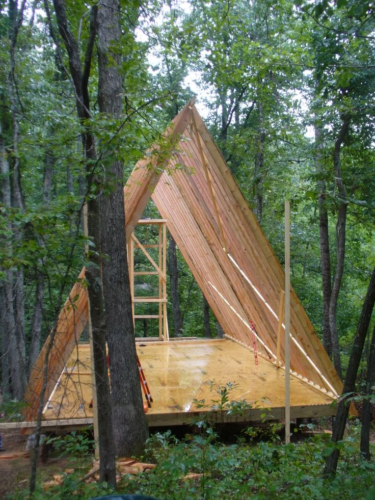 1066 best cabins a frames tents images on pinterest for A frame log cabin plans