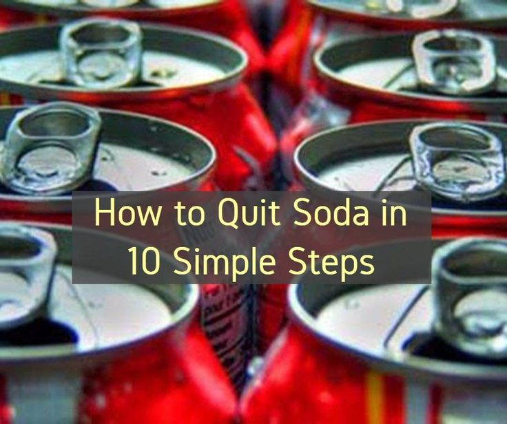 It Is Possible To Quit Drinking Soda With A Minimum Of