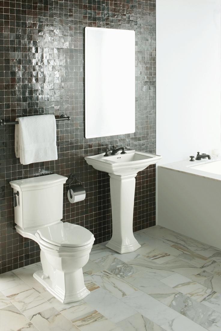 173 best bathroom images on pinterest bathrooms decor for Two piece bathroom ideas