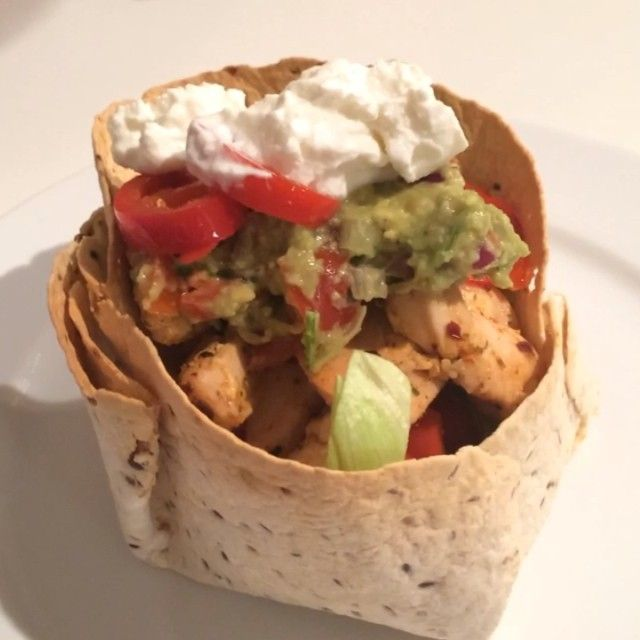 The Body Coach: Chicken Tortilla Wrap