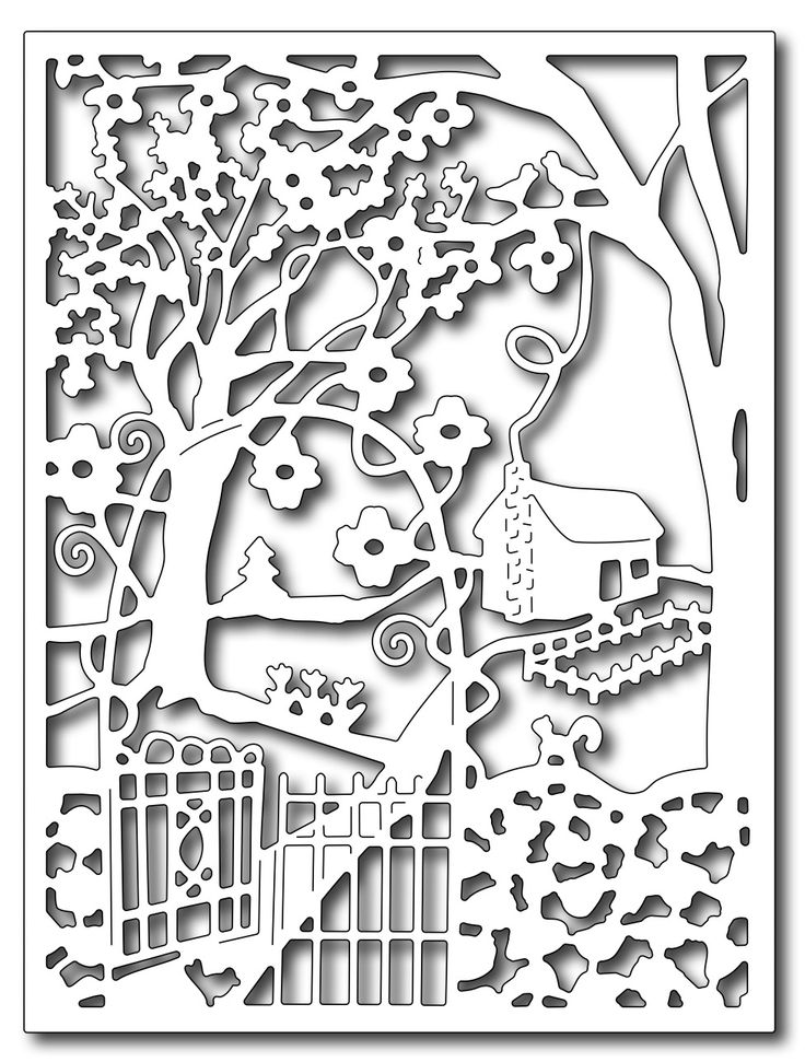 Frantic Stamper Precision Die - Spring Cottage in the Wildwoods Card panel ,$24.99