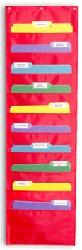 STORAGE POCKET CHART File Folder Organization use on back of file cabinet for student work
