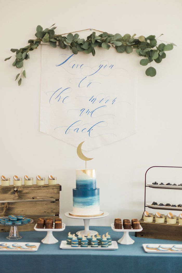 """Love You to the Moon"" Rustic Baby Shower on Kara's Party Ideas 
