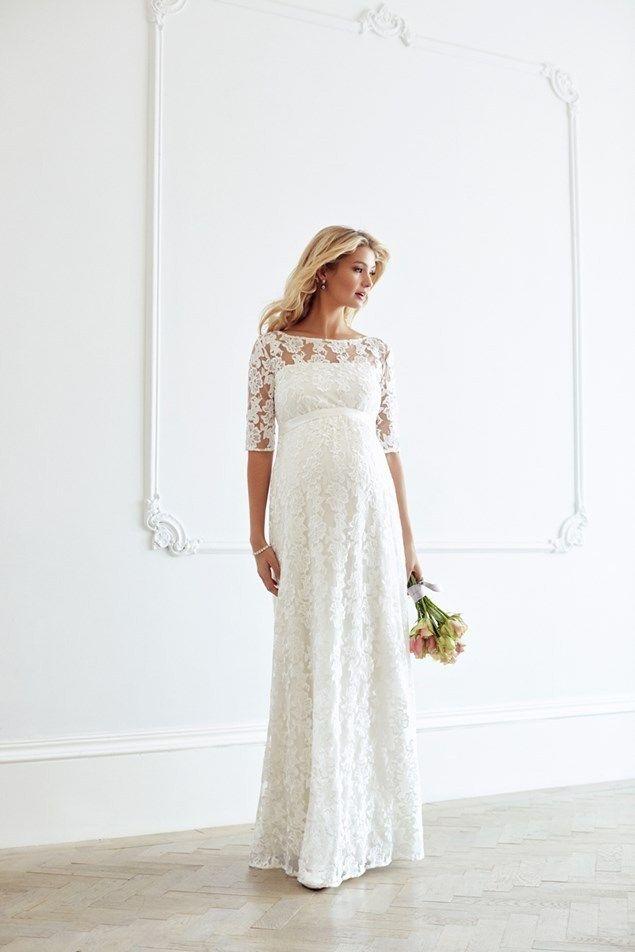 5cc21a000f3d0 70+ Wedding Dress for Pregnant Brides Ideas 25 | heavy bride ...