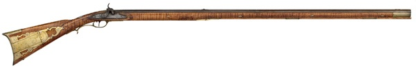 Full-stock Percussion Kentucky Rifle by John Armstrong - Cowan's Auctions