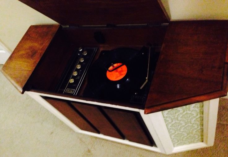 1970s Bsr Vintage Record Player Cabinet Vintage Record