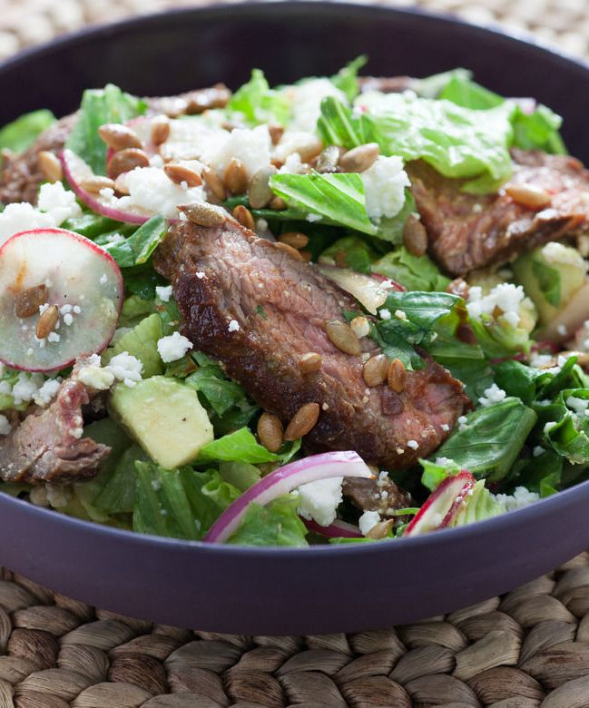 Chipotle Steak Salad with Avocado & Toasted Pepitas ...