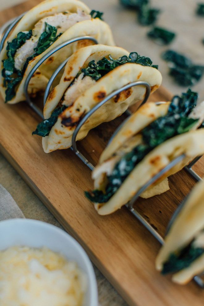 Game Day Recipes ||  Kale Caesar SaladTacos with Grilled Chicken