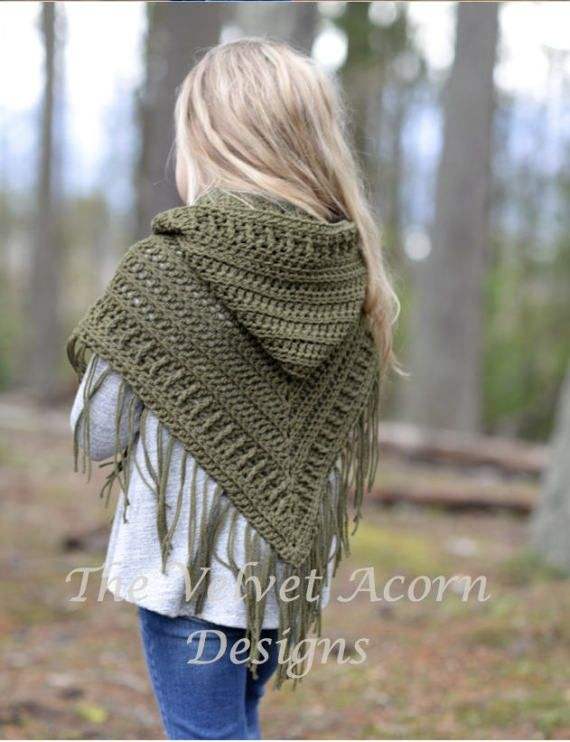 CROCHET PATTERN-The Brocade Shawl toddler child and adult