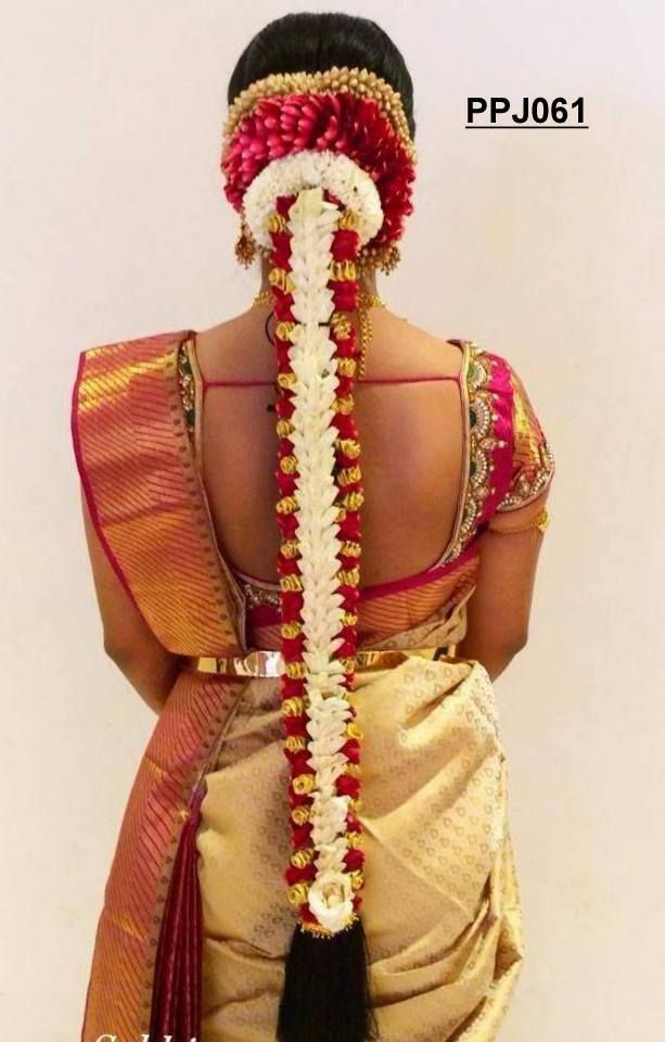 #southindianwedding #floralhairdesign #traditionalbeauty #jusloveit