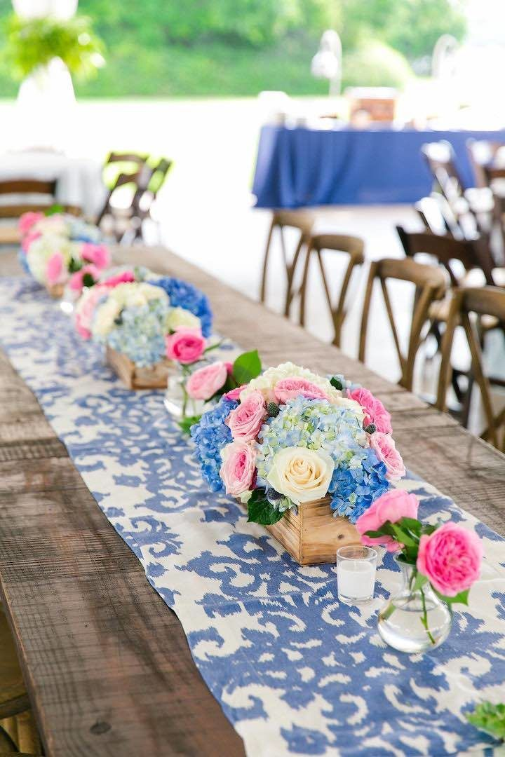 Blue Southern Charm Filled North Carolina Wedding