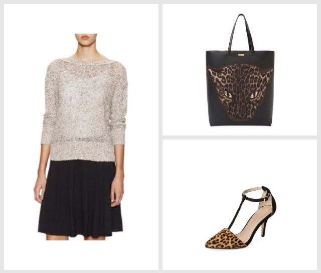 Business outfit with a bit of leopard. Do you dare to wear leopard to office?  #stylematicapp