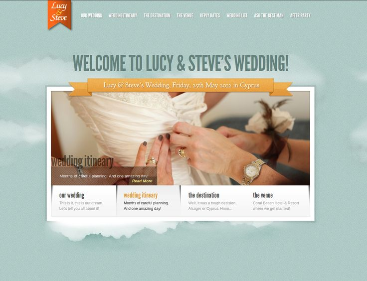 lu and steve - a wedding site...
