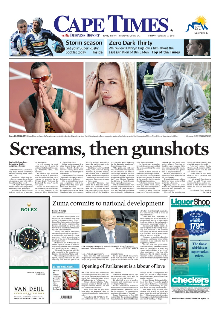 News making headlines: Screams, then gunshots