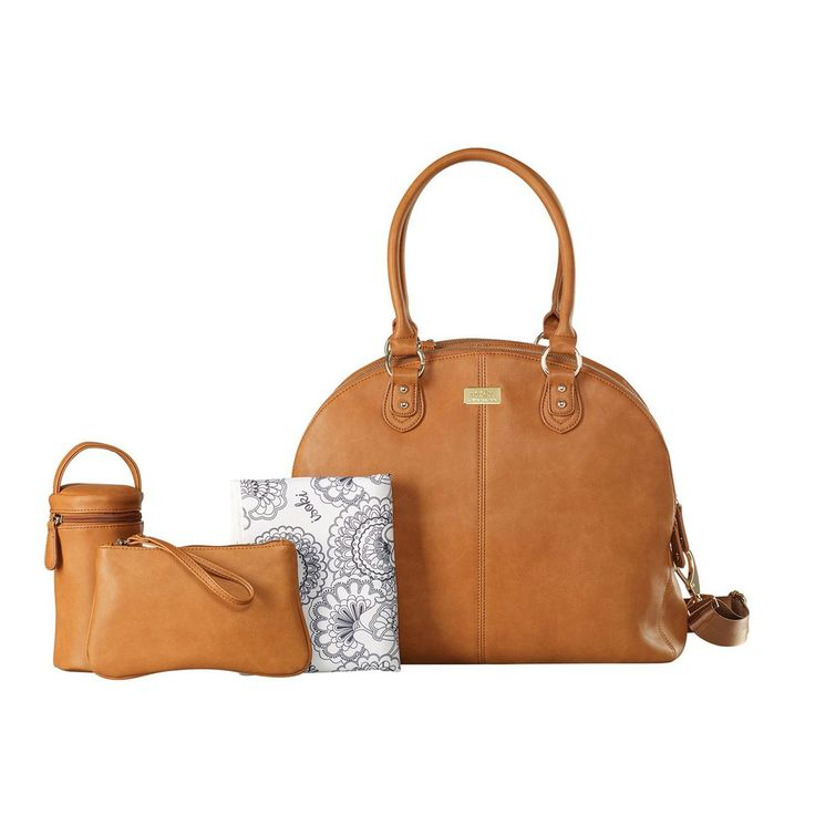 Isoki Madame Polly Nappy Bag - Avalon (Tan) Shop Baby Diaper Bags Online
