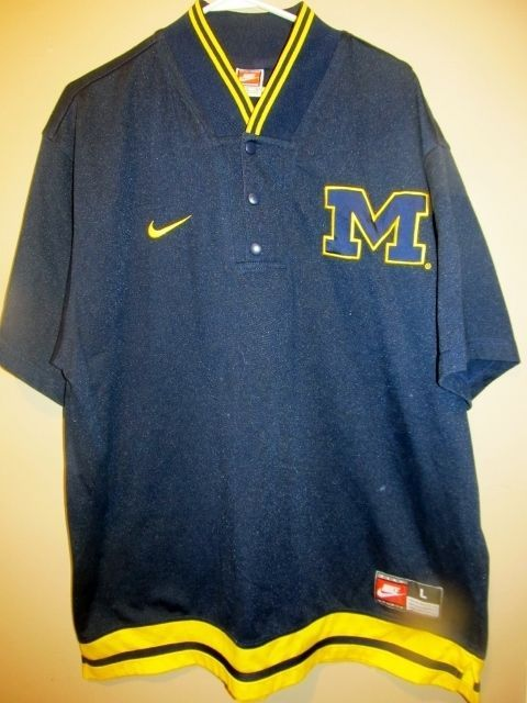Vintage Michigan Wolverines Basketball Warm Up jersey -Nike Adult large #Nike #MichiganWolverines