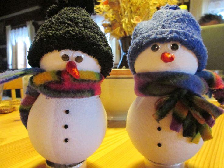 Sněhuláčci z ponožek