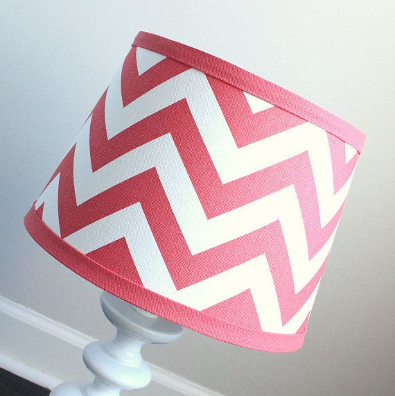 Small White Navy Blue Chevron lamp shade with by babymilanbedding