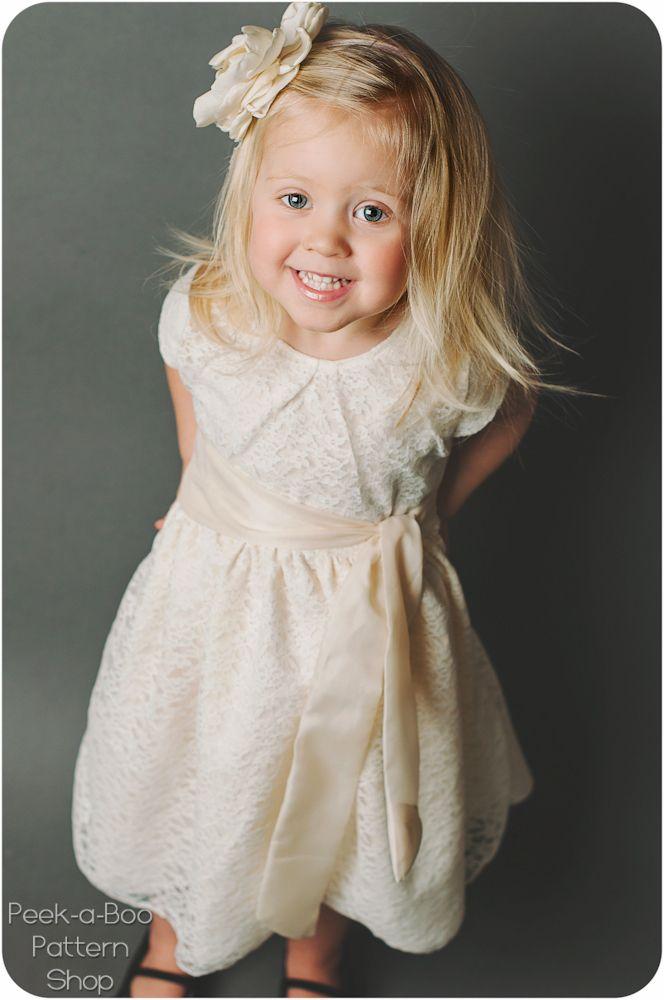 22 besten Dress patterns Bilder auf Pinterest | Blumenmädchenkleid ...