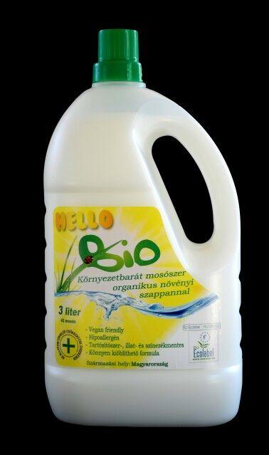 Hello Bio organikus mosószer  Mosható pelenka mosásához megfelelő összetétel.  Tartósítószer-, illat-és színezékmentes. Ecolabel. http://www.citrobio.hu
