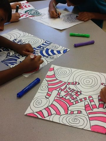 it's an HSES Arty Party!: Fifth Grade Optical Illusions
