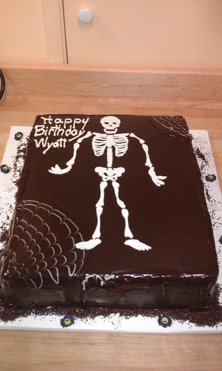 Black Skeleton Birthday Cake Celebration Cakes
