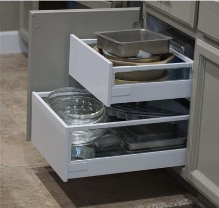 A tutorial for installing IKEA drawers in face frame kitchen cabinets.  Goal: Increase useful