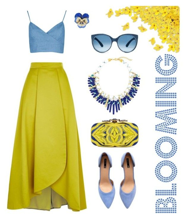 """Mustard style"" by kseniavarlamova on Polyvore featuring мода, Boohoo, Pinko, H&M и Oscar de la Renta"