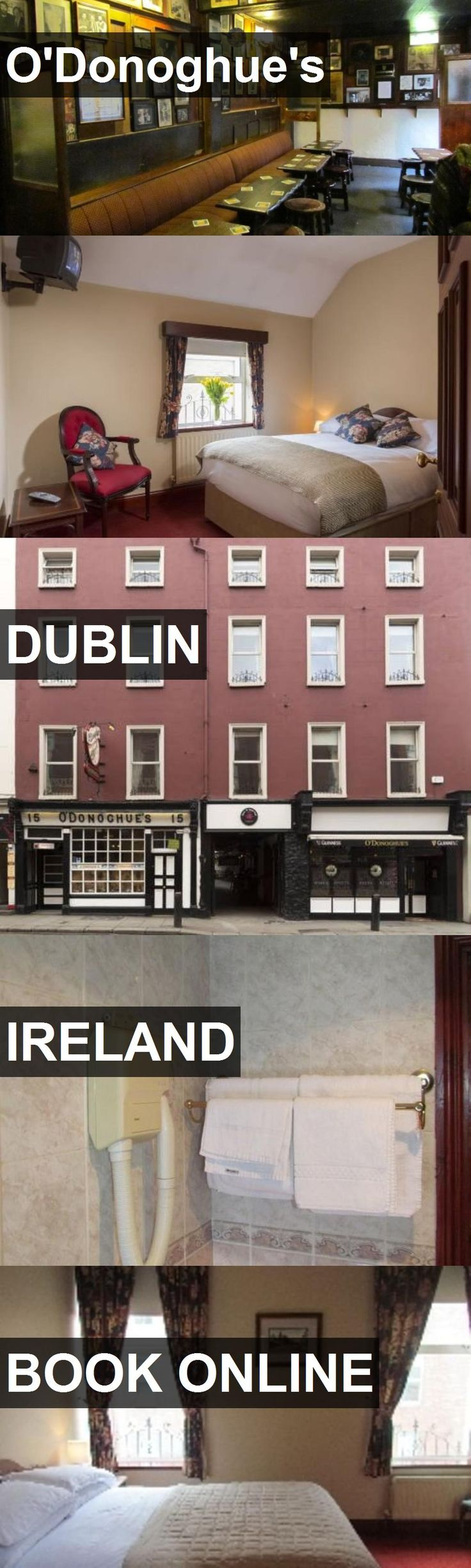 Hotel O'Donoghue's in Dublin, Ireland. For more information, photos, reviews and best prices please follow the link. #Ireland #Dublin #travel #vacation #hotel