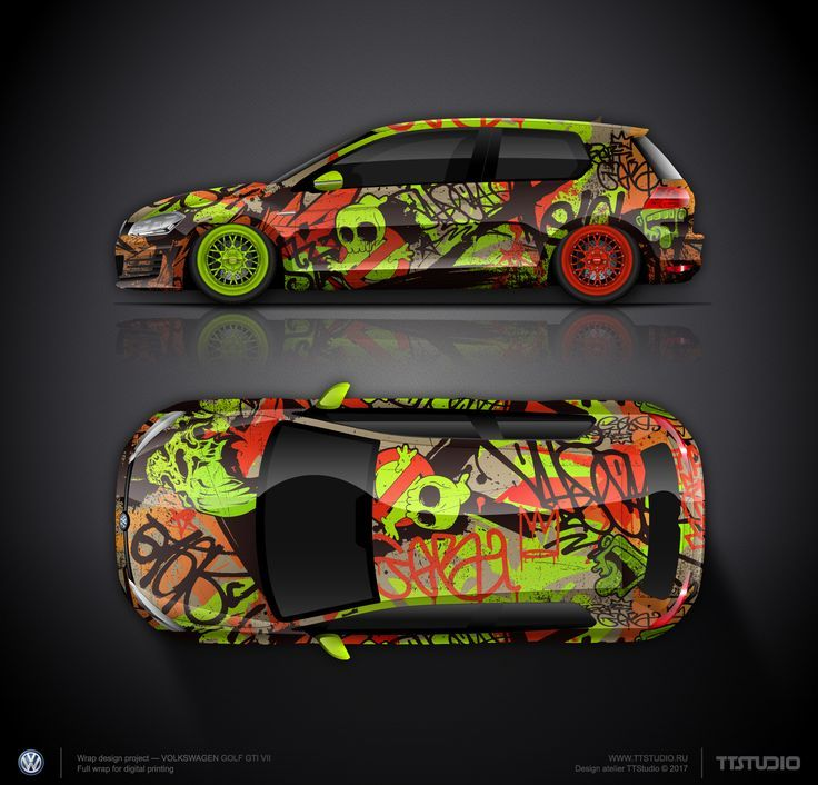 Awesome Volkswagen 2017: Design concept #8 the graffiti style #2 VW Golf GTI...  Car wrap design