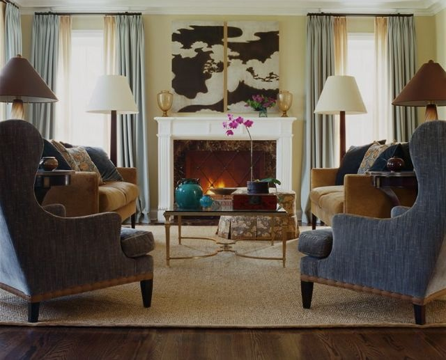 A Pair Of Niermann Weeks Lucien Tables By The Sofas In This Chicago Living  Room By Stephanie Wohlner Design Part 90